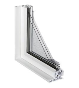 Fenêtres à Battant Modulaire coupe