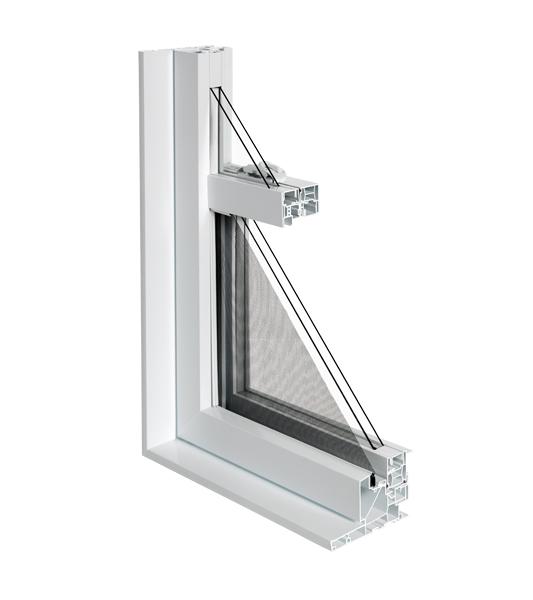 Fen tres pvc guillotine simple portes et fen tres plus for Fenetre guillotine pvc france