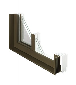 Fenêtres coulissantes simples coupe