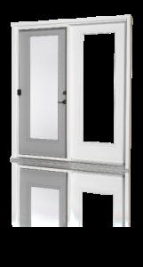 portes doubles en acier